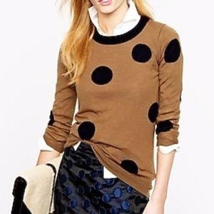 J. Crew Tippi Sweater in Polka Dot XL